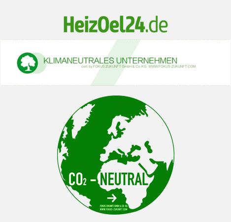 Das Unternehmen HeizOel24 ist Klimaneutral