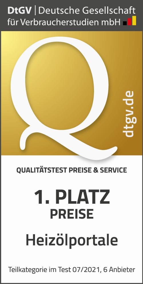 HeizOel24 ausgezeichnet mit dem Service Award 2021 - 1. Platz Heizölportale 2021