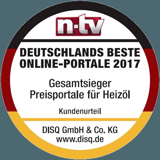 Deutsches Institut für Service-Qualität - Gesamtsieger Preisportale für Heizöl