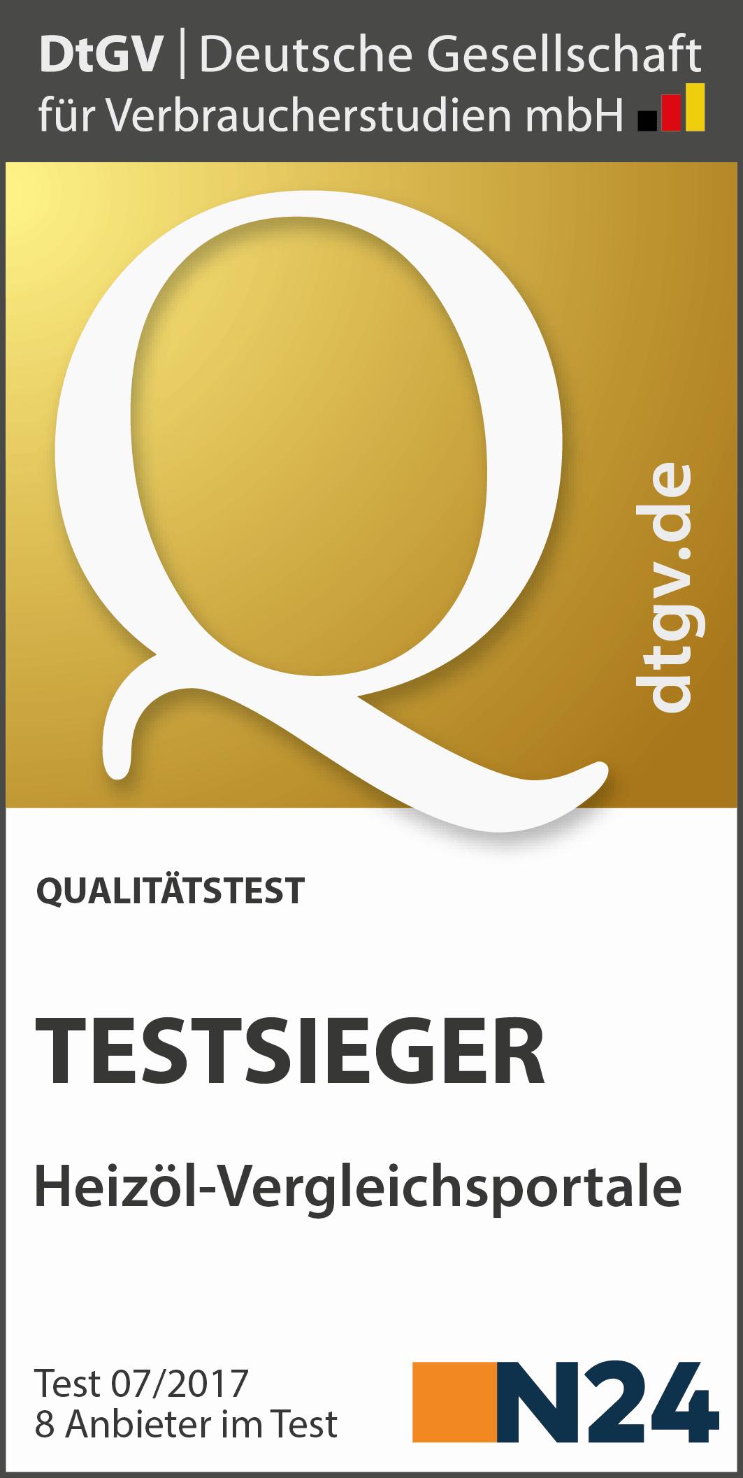 Testsieger Heizöl-Vergleichsportale 2017 - Deutsche Gesellschaft für Verbraucherstudien mbH