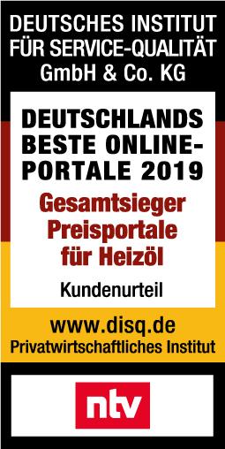 Deutsches Institut für Service-Qualität - Gesamtsieger Preisportale für Heizöl 2019
