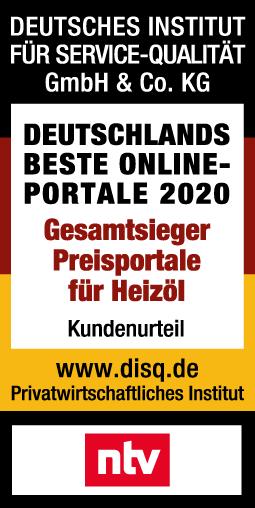 Deutsches Institut für Service-Qualität - Gesamtsieger Preisportale für Heizöl 2020