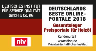 DISQ - HeizOel24 Testsieger deutscher Heizöl-Preisportale