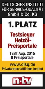 n-tv DISQ Testsieger Auszeichnung für HeizOel24