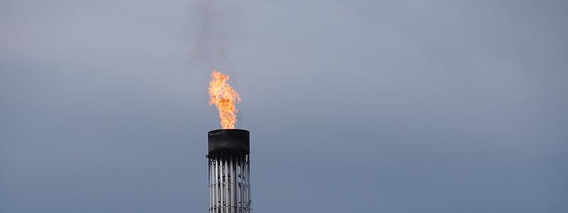 Bohrinsel Flamme