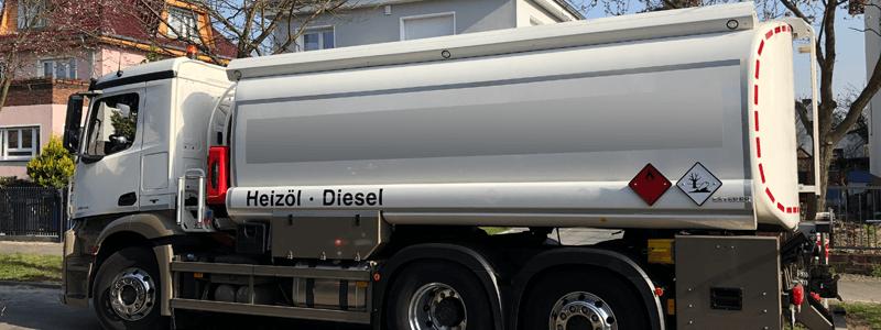Heizöl Lieferung Tankwagen